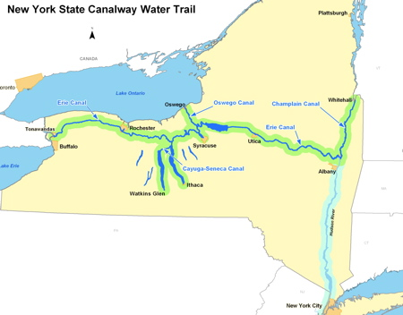 Erie Canal Assignment Publish With Glogster - Erie canal on map of us